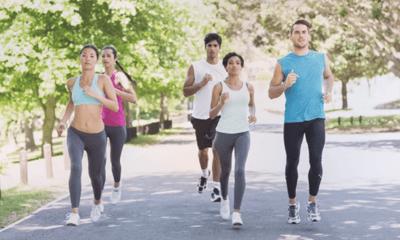 bien-être au travail, cohésion d'équipe, sport en entreprise, course à pied